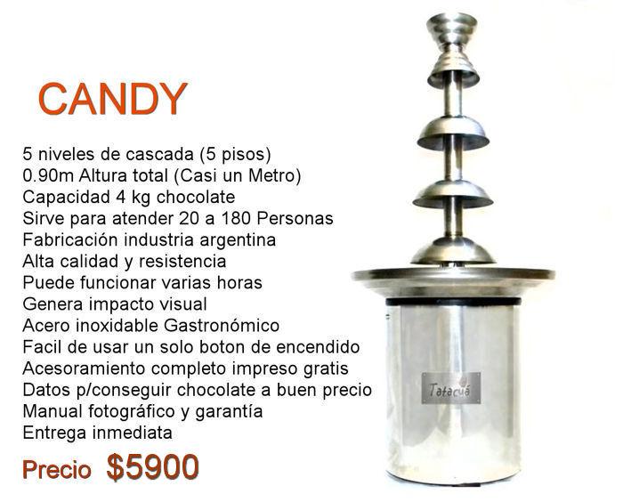 cascada de chocolate candy precio rosario mercadolibre