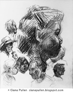 Sketch of a Crowd by Ciana Pullen