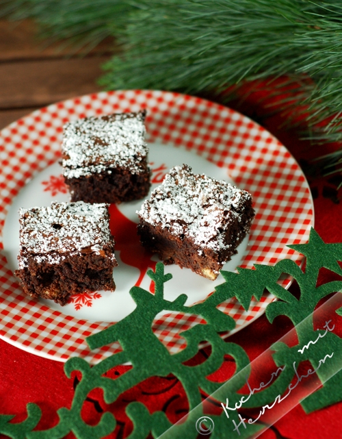 Weihnachtsbäckerei - Schokoladigste Brownies