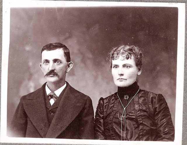 Old family portraits, black and white photos, people not smiling, Victorian couples, man with mustache
