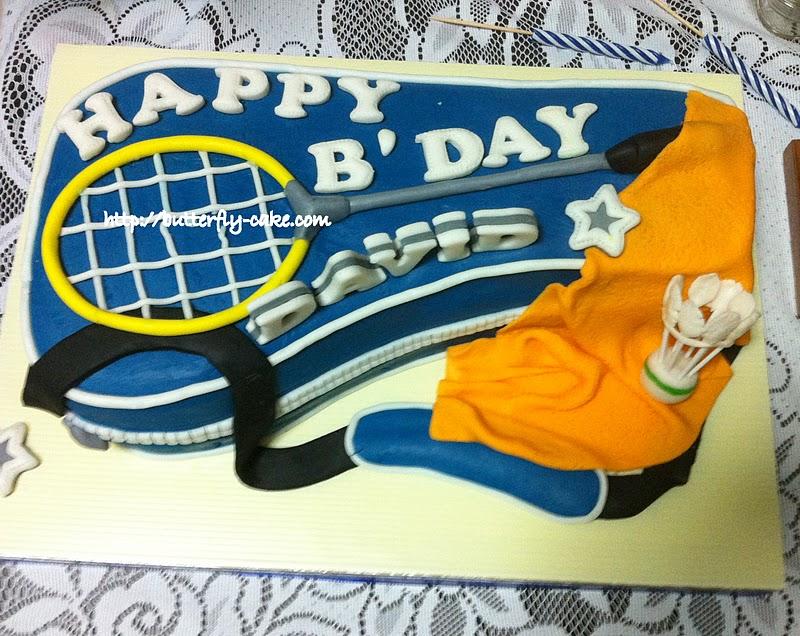 Butterfly Cake Badminton Racket Birthday Cake For David