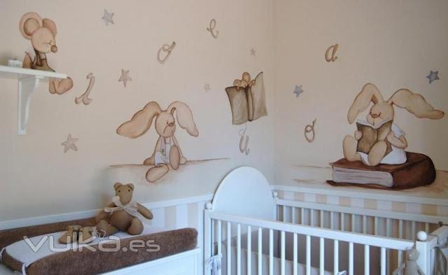 Foto mural habitacion decorar tu casa es - Mural habitacion infantil ...