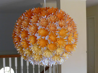 Paper flowers lantern