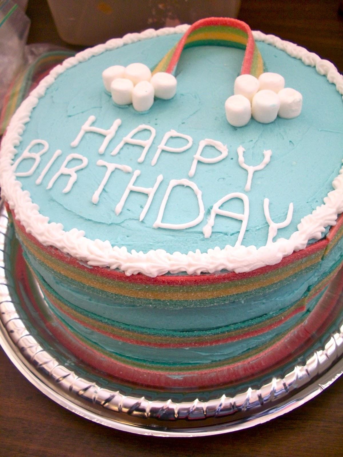 Brooke Bakes Rainbow Cake