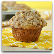 Apple Cinnamon Banana-Nut Streusel Muffins