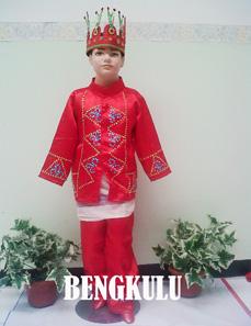 Jual Baju Adat bengkulu Untuk Anak Putra Putri