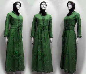 model baju pesta muslimah sederhana