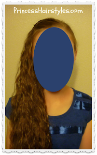 side swept braided hairstyle, front view