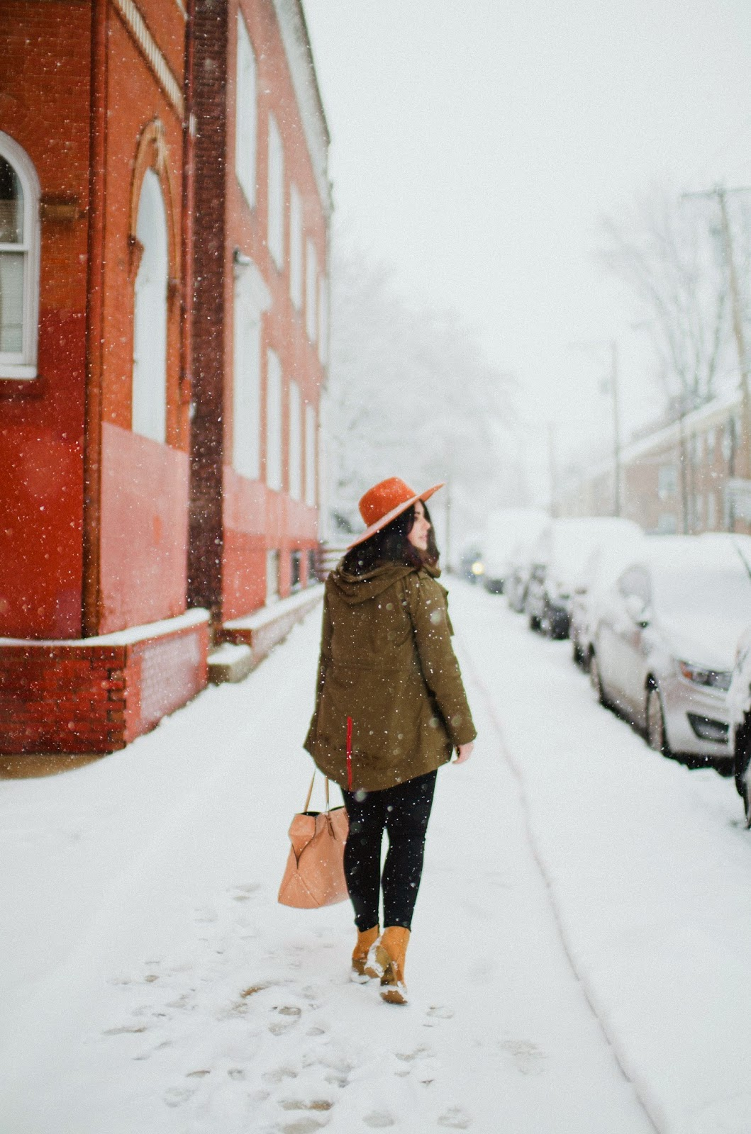 Snow Day Fashion in Philly