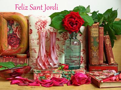 rosas y libros Rosas para Sant jordi