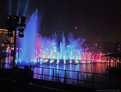 World Color Disney California Adventure fountains Disneyland