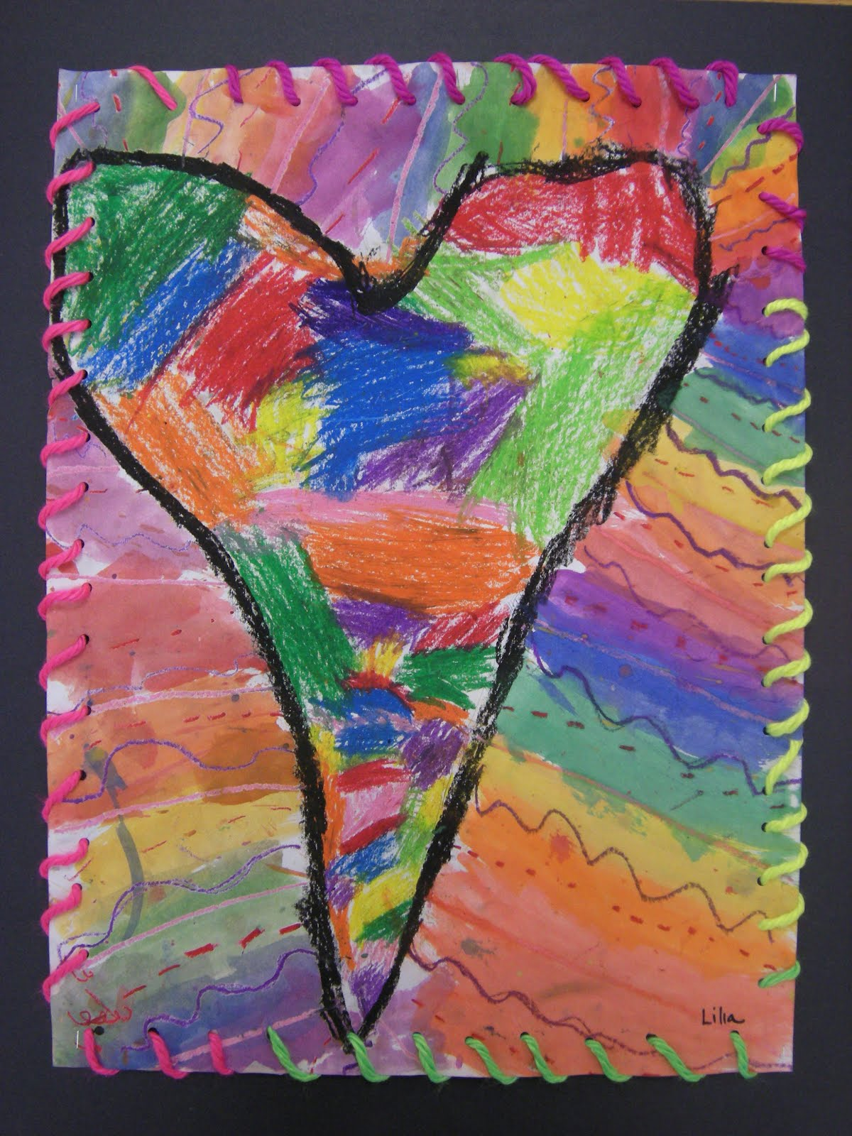 what u0026 39 s happening in the art room    1st grade jim dine hearts