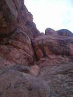 Desert tower climbing in Colorado