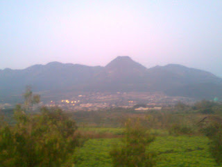 Mount Panderman at Batu City with lot of agricultural product