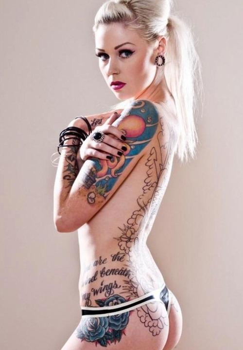 creative tattoos tattooed girls