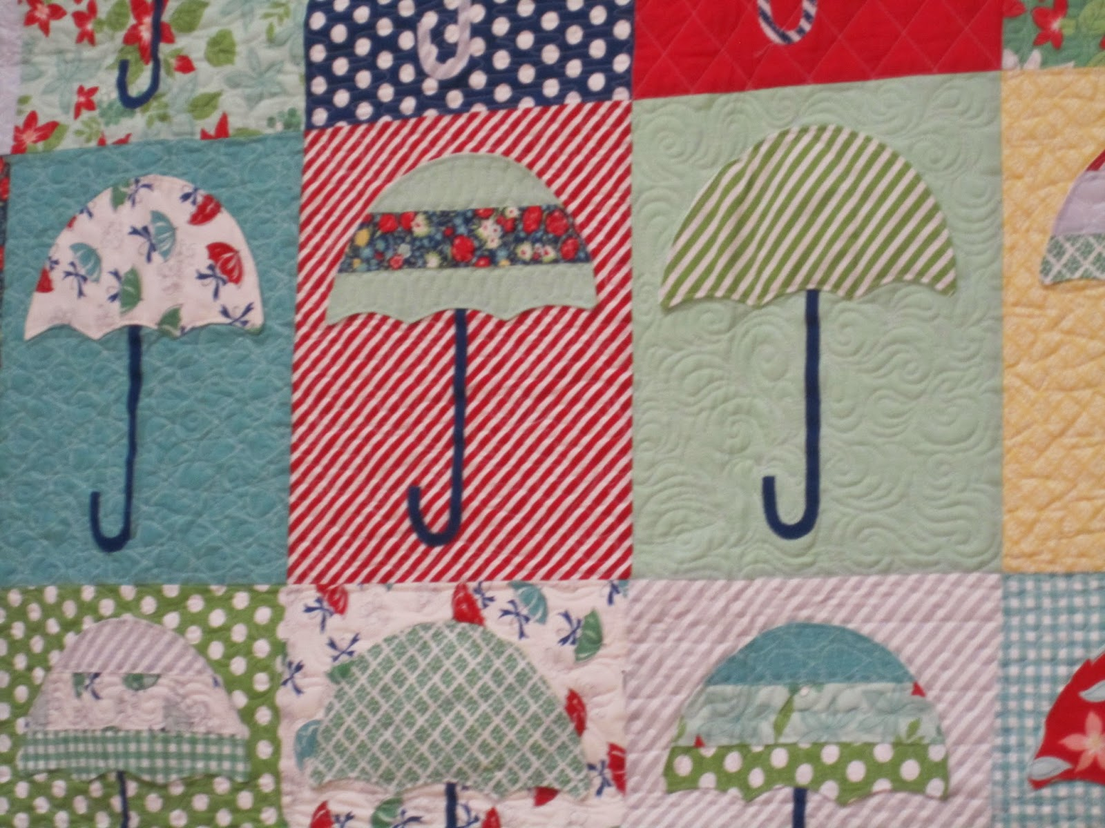 camille roskelley's machine quilting, raincheck, april showers