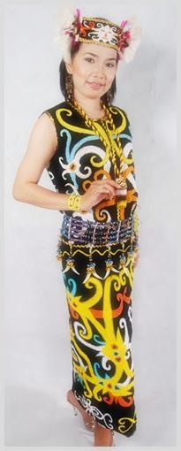 Baju Adat Kalimantan Barat Timur Selatan Tengah