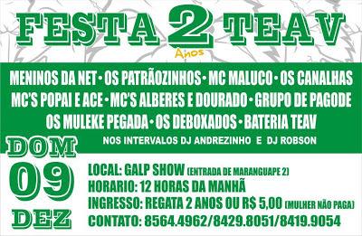 FESTA DE 2 ANOS DA ESQUADRÃO ALVI-VERDE