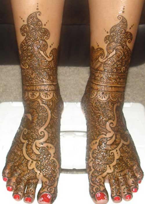 Mehndi Designs For Childrens Leg : Mehndi designs for legs