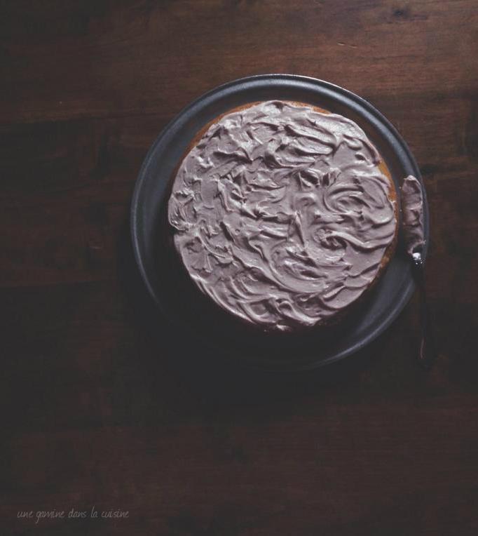 blueberry basil cake with blueberry thyme mascarpone German buttercream   une gamine dans la cuisine