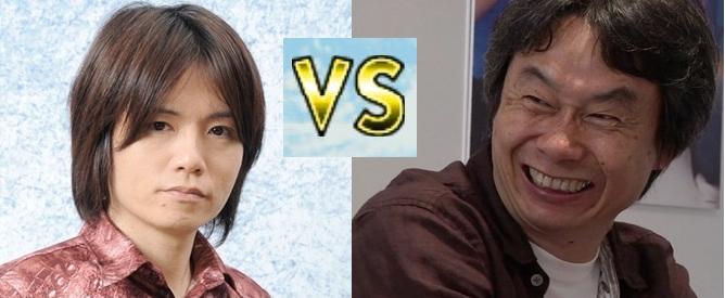 Masahiro Sakurai and Shigeru Miyamoto smash it out.
