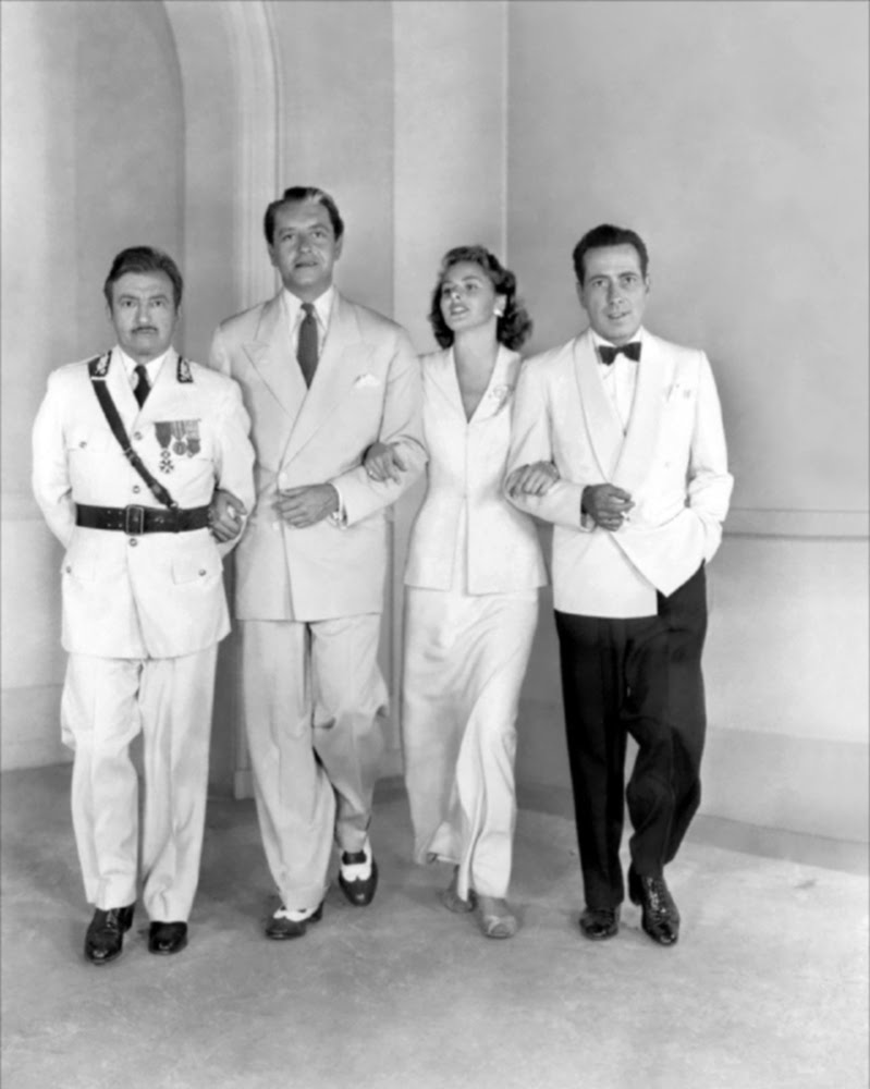 I love Bergmanu0027s white suit.  sc 1 st  Fashionable Forties & Fashionable Forties: Casablanca 1942