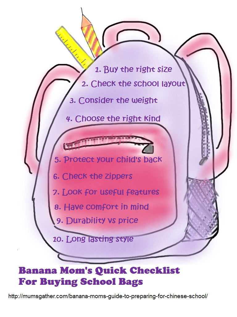 Tips For Buying School Bags ~ Parenting Times