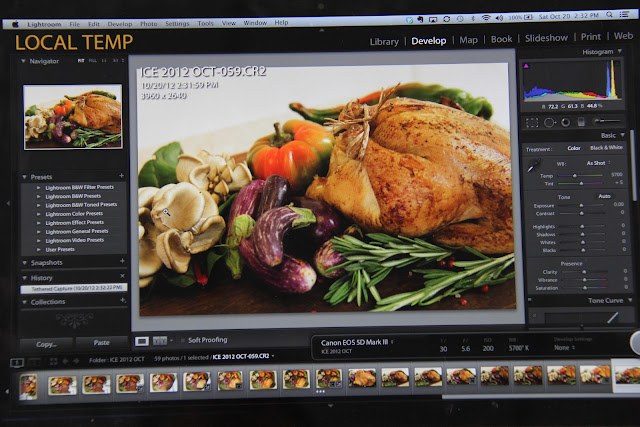 Food Styling and Photography - Ratatouille in the Making - Photoshop
