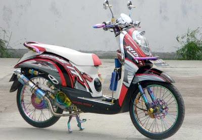 modif motor honda velg jari jari scoopy Racing Look Style
