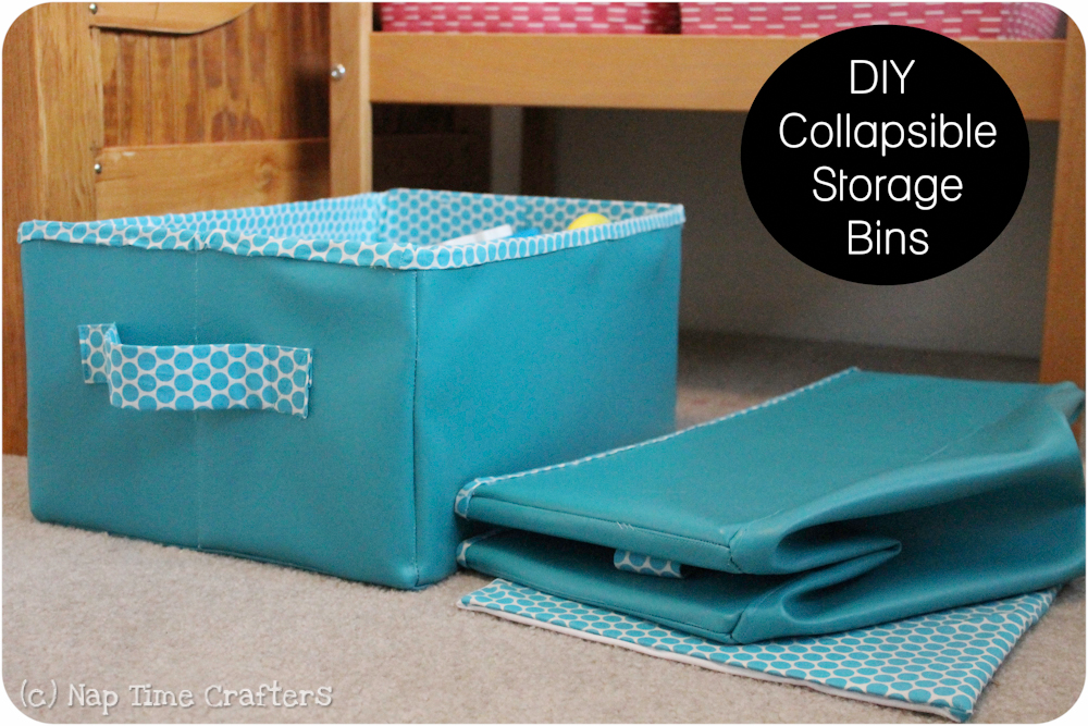 Collapsible Storage Bins Tutorial