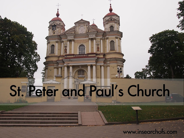 St Peter and Paul's Church in Vilnius, Lithuania