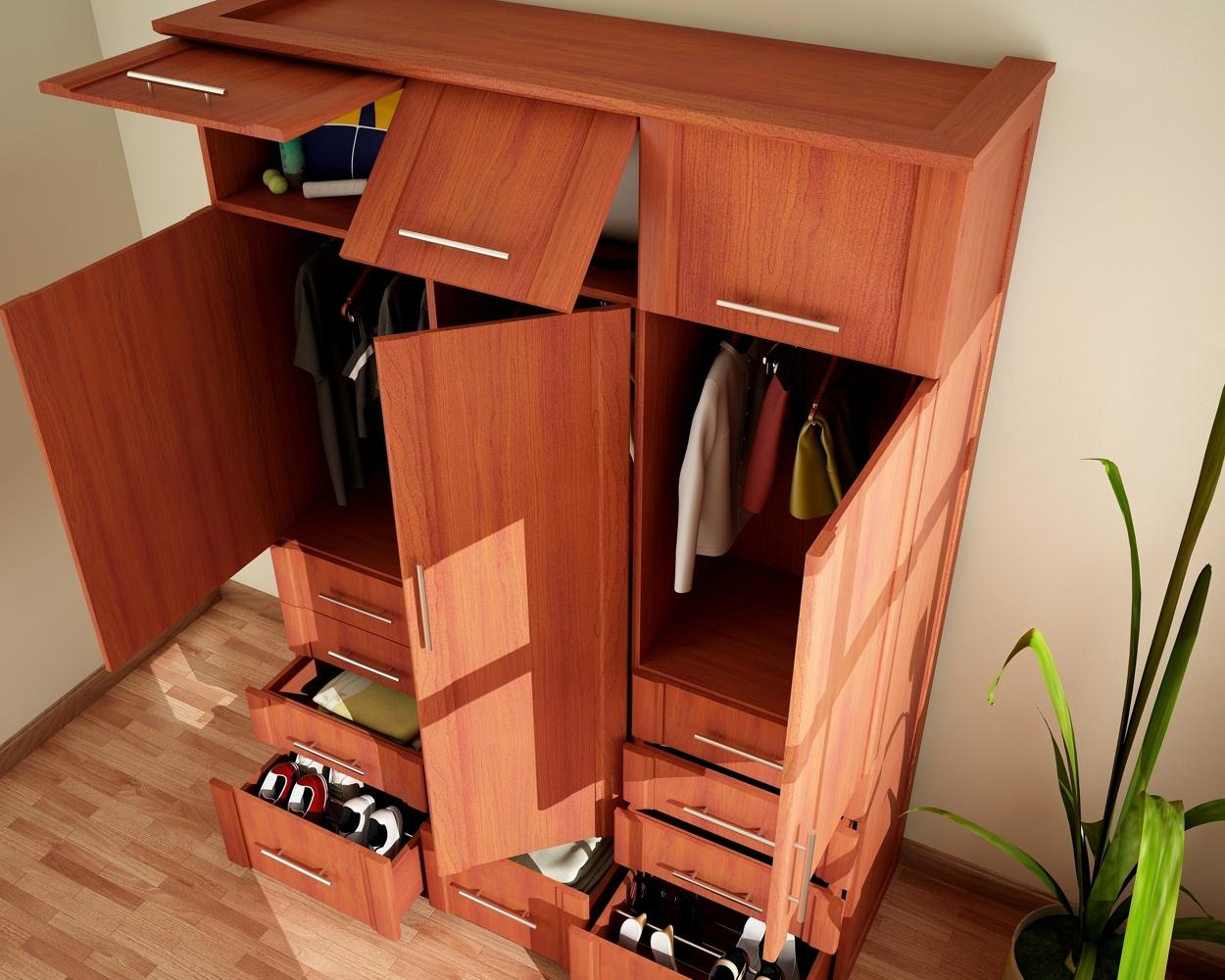 Af arquitectura y mobiliario closet en madera for Disenos de puertas de madera para closets