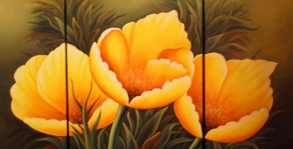 Pinturas cuadros lienzos bodegones de flores pintados en leo - Ver cuadros modernos ...