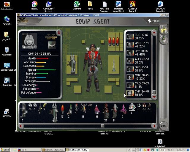 UFO 3: Apocalypse - Equipment Screenshot