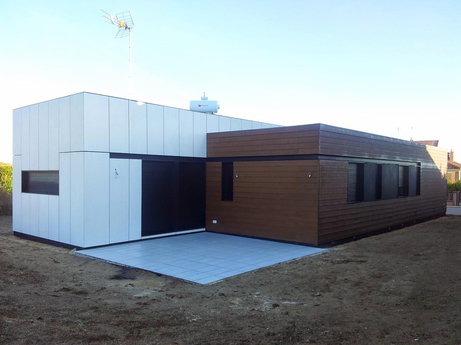 Fachada ventilada vivienda modular Resan