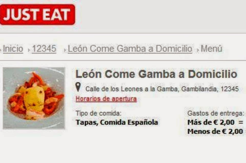 León come gamba