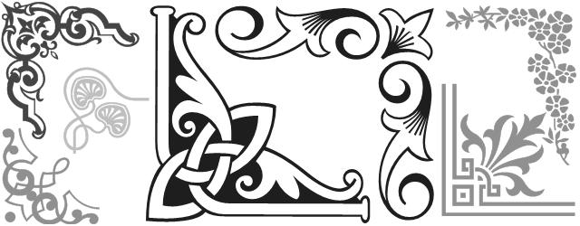 Decorative border font shree238