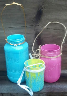 How to Make Colored Mason Jar Lanterns