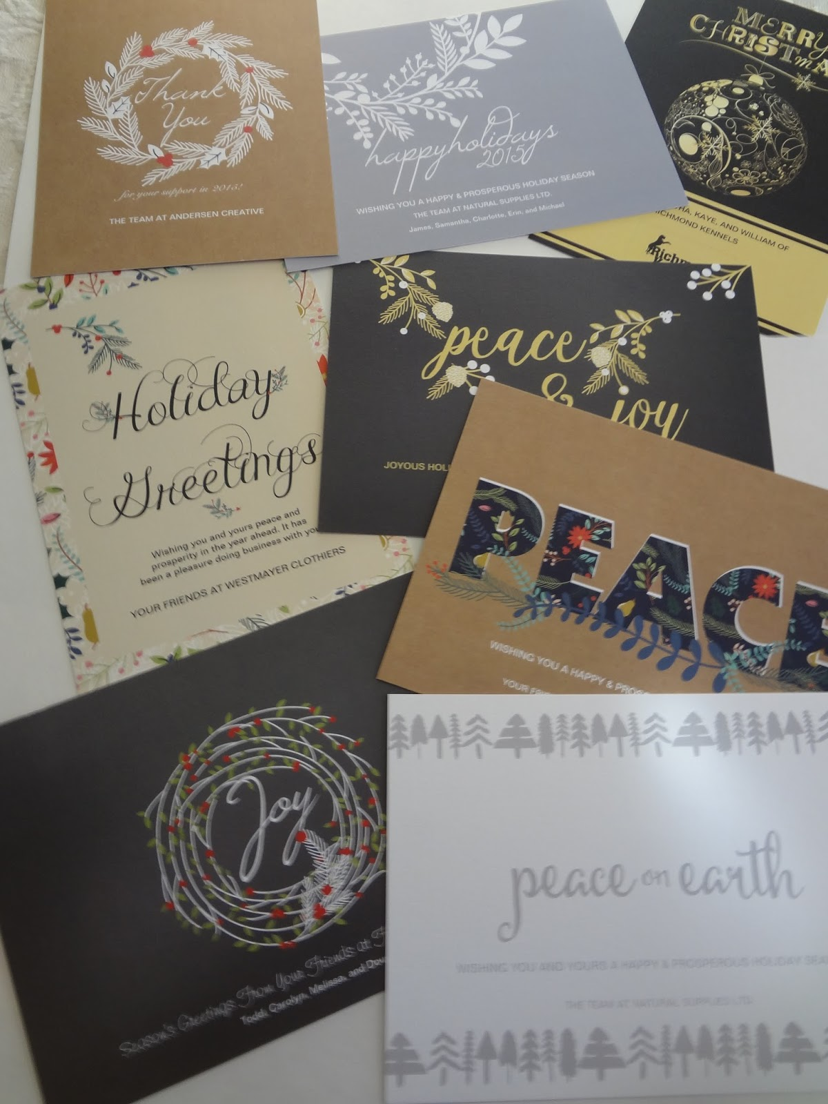 Peacock Cards Corporate Christmas Holiday Cards