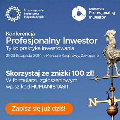 100 zł rabatu na Konferencję Profesjonalny Inwestor 2014