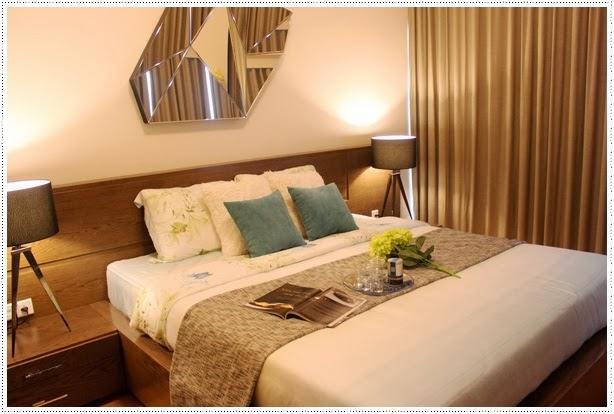 bedroom in the vista apartment 3 bedrooms