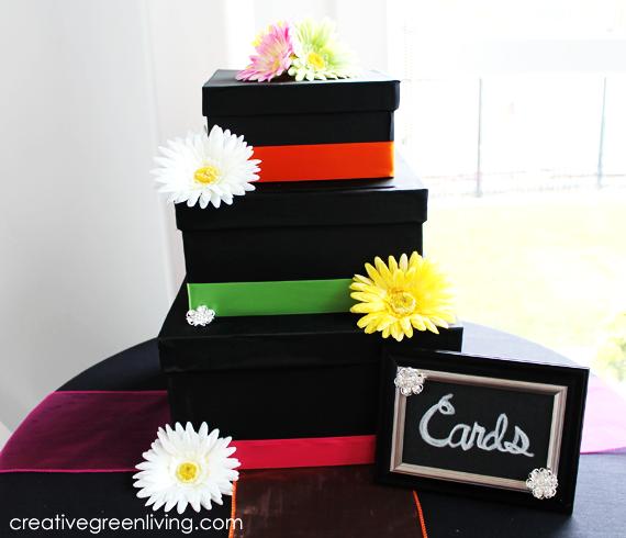 Black and Bright Wedding: Three Tier Wedding Card Box Tutorial ...