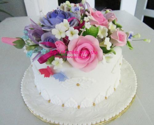 fondant cake untuk hantaran Pertunangan