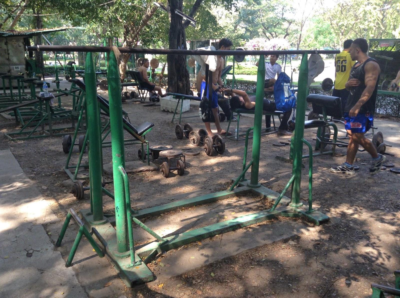 Best Outdoor Gym - Bangkok Thailand - Benchasiri Park, Lumphini Park