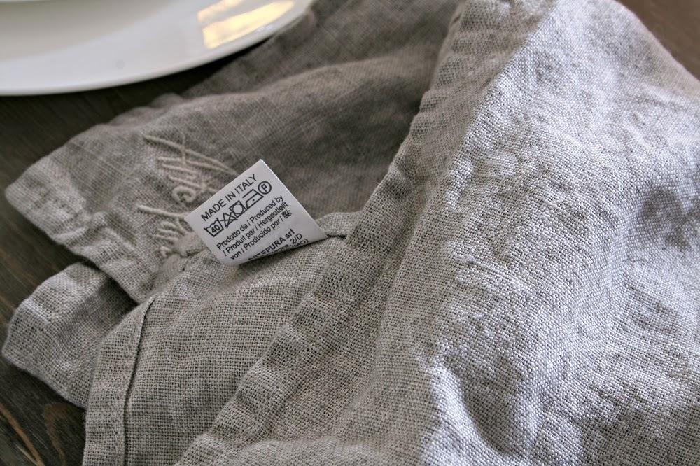 Made In Italy, Arte Pura, Linen napkin, White Tablescape