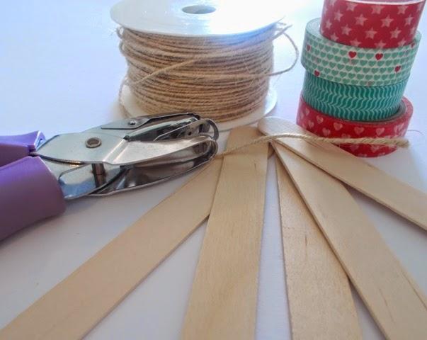 Fantasia blog diy braccialetti in legno washi tapes for Lavoretti con abbassalingua