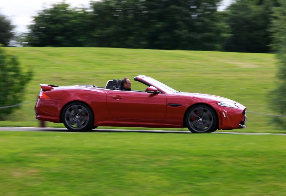 Me in the Jaguar XKR-S Coupé
