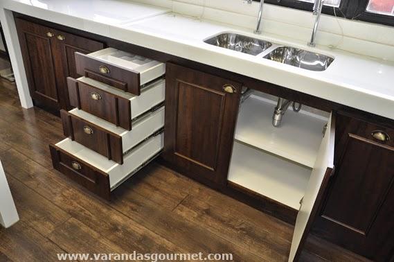 detalhes do armário e gaveteiro