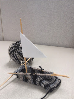 Day 2 of my Sock: A Sailboat Emerged