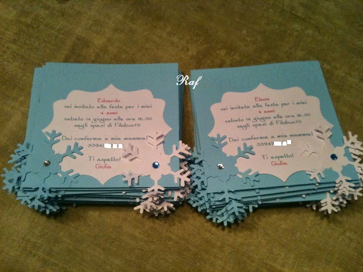 Famoso Creazioni di Raf - Wedding creations : Inviti per festa di compleanno JT24